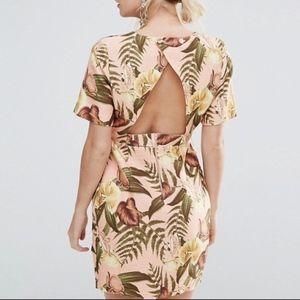 ASOS PETITE Mini Smart Woven Dress with V Back